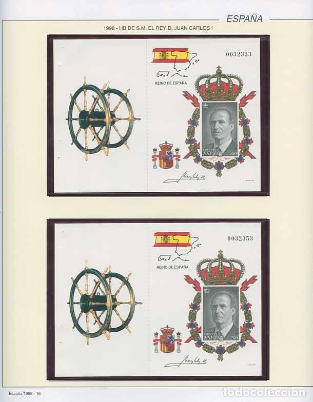 Sellos: España 1998 - AÑO COMPLETO - MNH - Montado en hojas FILABO - Foto 17 - 185684967