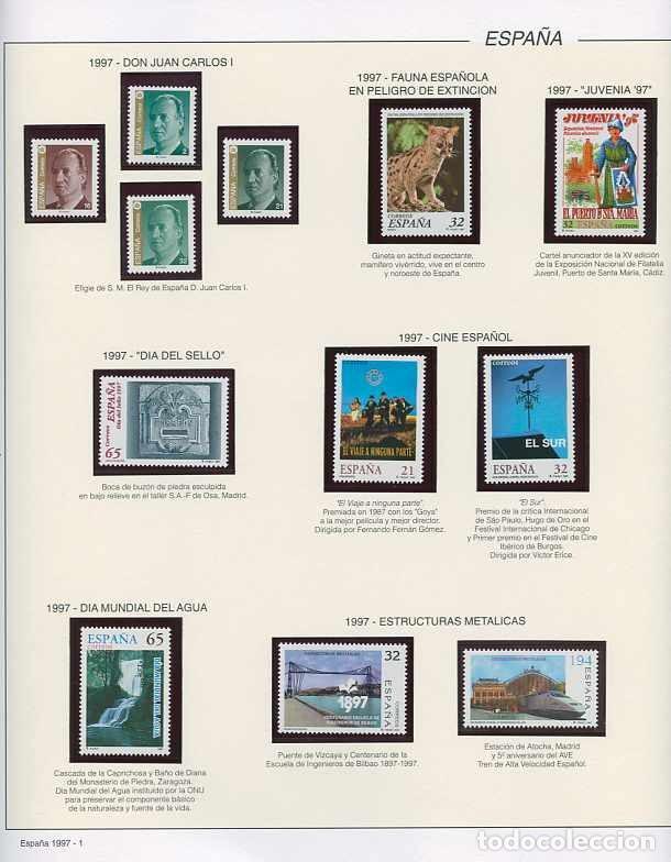 ESPAÑA 1997 - AÑO COMPLETO - MNH - MONTADO EN HOJAS FILABO (Sellos - España - Juan Carlos I - Desde 1.986 a 1.999 - Nuevos)