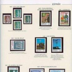Sellos: ESPAÑA 1997 - AÑO COMPLETO - MNH - MONTADO EN HOJAS FILABO. Lote 185720948