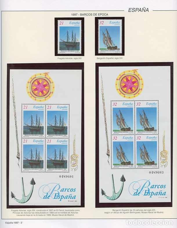 Sellos: España 1997 - AÑO COMPLETO - MNH - Montado en hojas FILABO - Foto 2 - 185720948