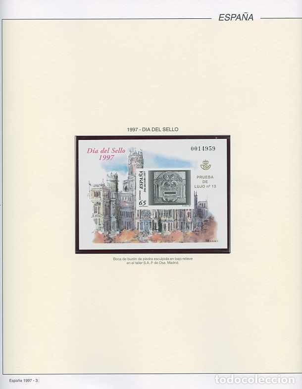 Sellos: España 1997 - AÑO COMPLETO - MNH - Montado en hojas FILABO - Foto 3 - 185720948