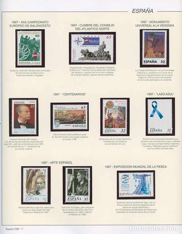 Sellos: España 1997 - AÑO COMPLETO - MNH - Montado en hojas FILABO - Foto 7 - 185720948