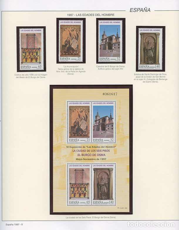 Sellos: España 1997 - AÑO COMPLETO - MNH - Montado en hojas FILABO - Foto 9 - 185720948