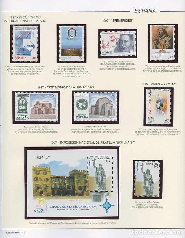 Sellos: España 1997 - AÑO COMPLETO - MNH - Montado en hojas FILABO - Foto 10 - 185720948