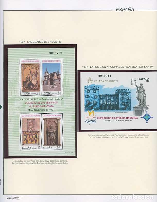 Sellos: España 1997 - AÑO COMPLETO - MNH - Montado en hojas FILABO - Foto 11 - 185720948
