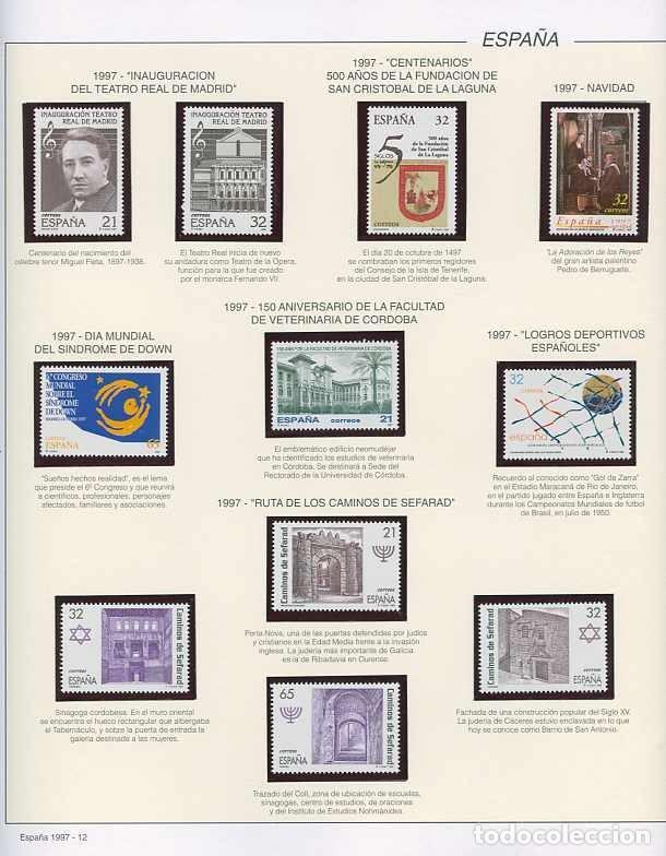 Sellos: España 1997 - AÑO COMPLETO - MNH - Montado en hojas FILABO - Foto 12 - 185720948
