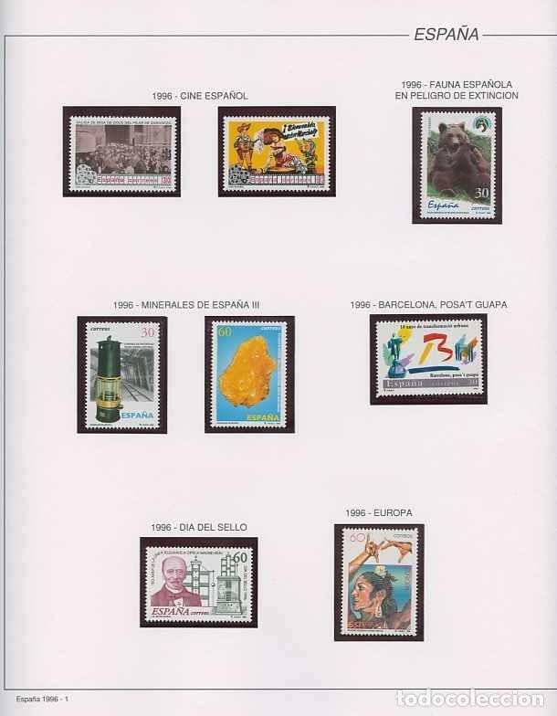 ESPAÑA 1996 - AÑO COMPLETO - MNH - MONTADO EN HOJAS FILABO (Sellos - España - Juan Carlos I - Desde 1.986 a 1.999 - Nuevos)