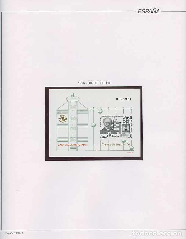 Sellos: España 1996 - AÑO COMPLETO - MNH - Montado en hojas FILABO - Foto 2 - 185776148