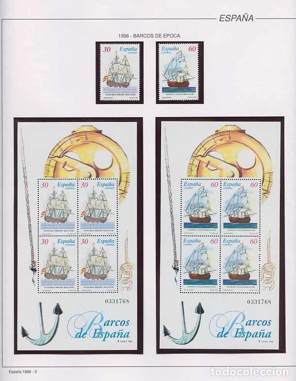 Sellos: España 1996 - AÑO COMPLETO - MNH - Montado en hojas FILABO - Foto 3 - 185776148