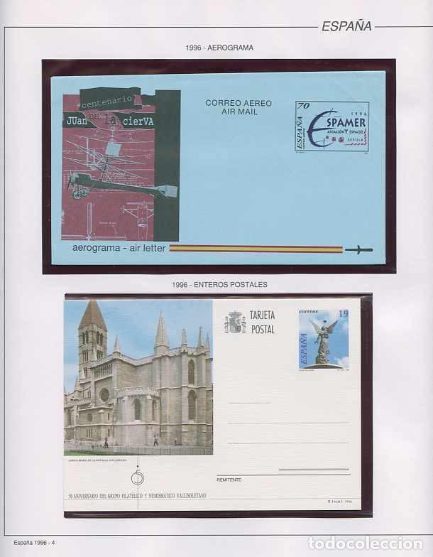 Sellos: España 1996 - AÑO COMPLETO - MNH - Montado en hojas FILABO - Foto 4 - 185776148