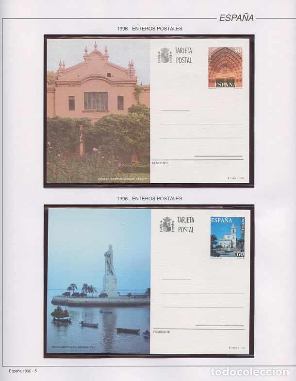 Sellos: España 1996 - AÑO COMPLETO - MNH - Montado en hojas FILABO - Foto 5 - 185776148