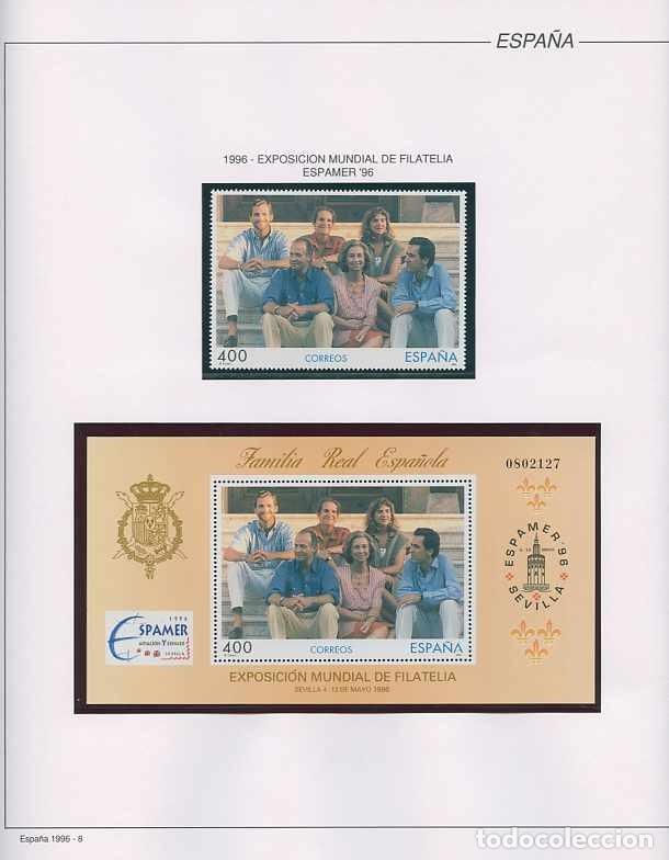 Sellos: España 1996 - AÑO COMPLETO - MNH - Montado en hojas FILABO - Foto 8 - 185776148