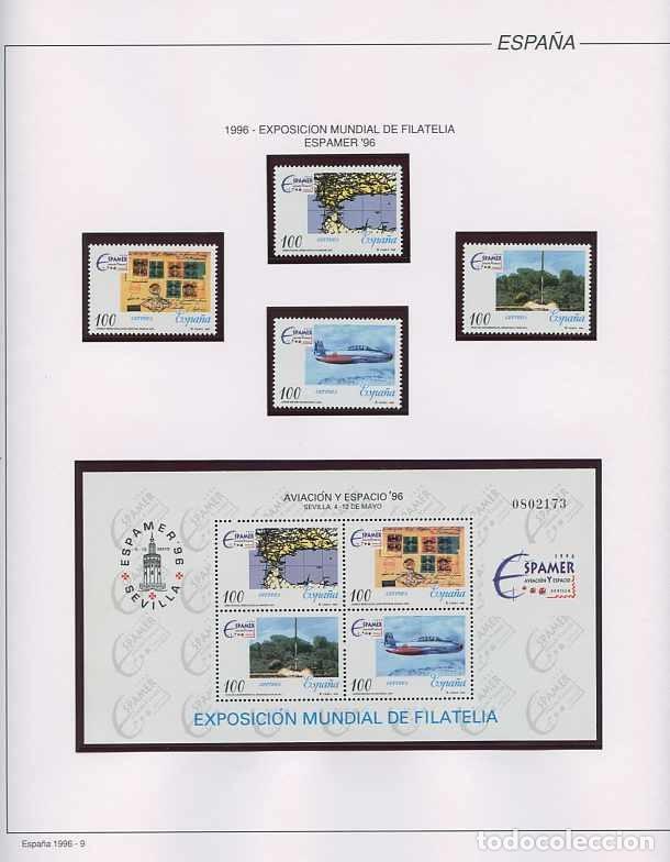 Sellos: España 1996 - AÑO COMPLETO - MNH - Montado en hojas FILABO - Foto 9 - 185776148