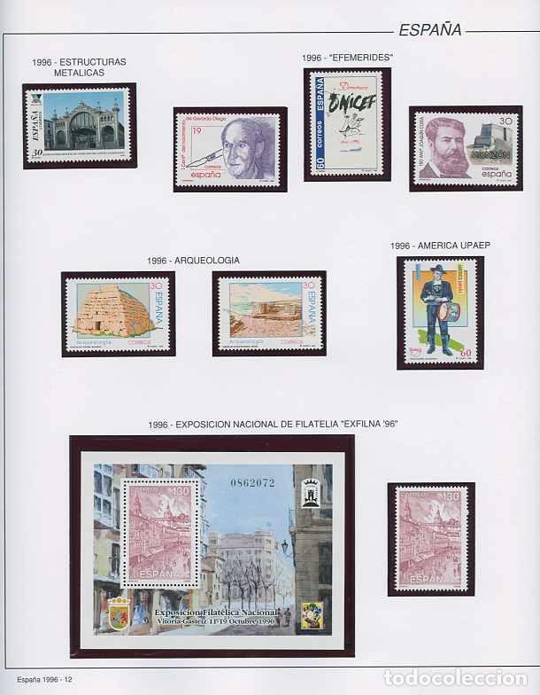 Sellos: España 1996 - AÑO COMPLETO - MNH - Montado en hojas FILABO - Foto 12 - 185776148