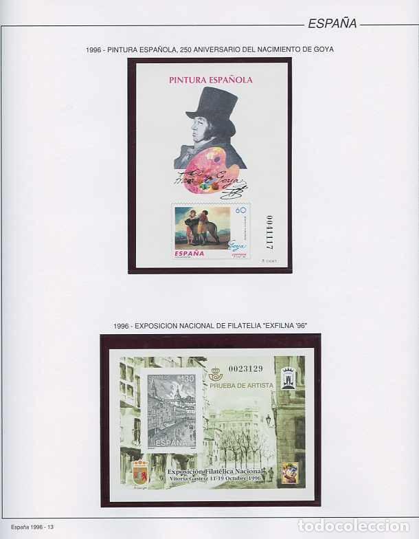 Sellos: España 1996 - AÑO COMPLETO - MNH - Montado en hojas FILABO - Foto 13 - 185776148