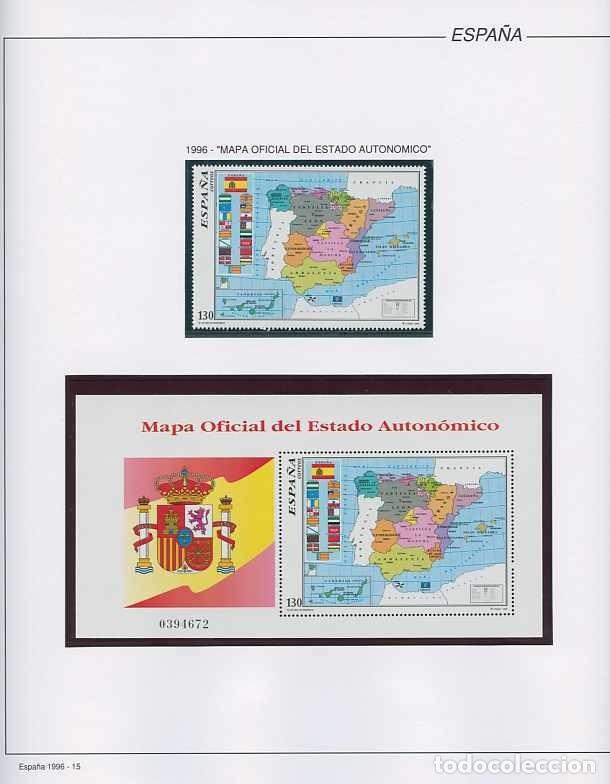 Sellos: España 1996 - AÑO COMPLETO - MNH - Montado en hojas FILABO - Foto 15 - 185776148