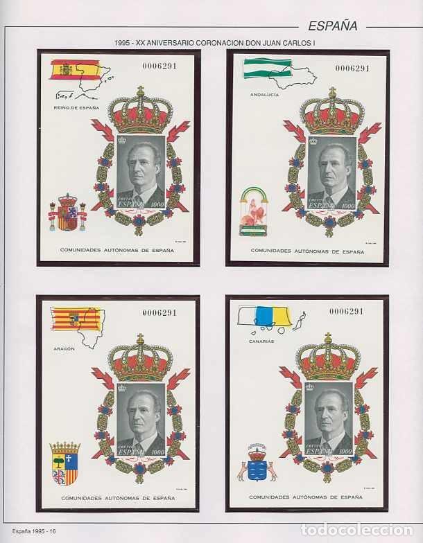 ESPAÑA 1995 - AÑO COMPLETO - MNH - MONTADO EN HOJAS FILABO (Sellos - España - Juan Carlos I - Desde 1.986 a 1.999 - Nuevos)