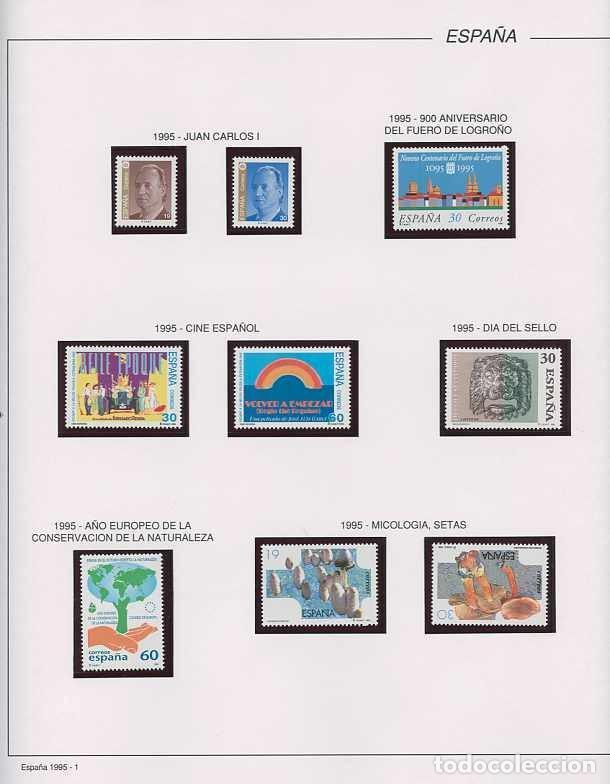 Sellos: España 1995 - AÑO COMPLETO - MNH - Montado en hojas FILABO - Foto 2 - 185789277