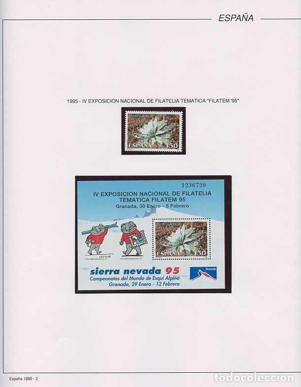 Sellos: España 1995 - AÑO COMPLETO - MNH - Montado en hojas FILABO - Foto 3 - 185789277