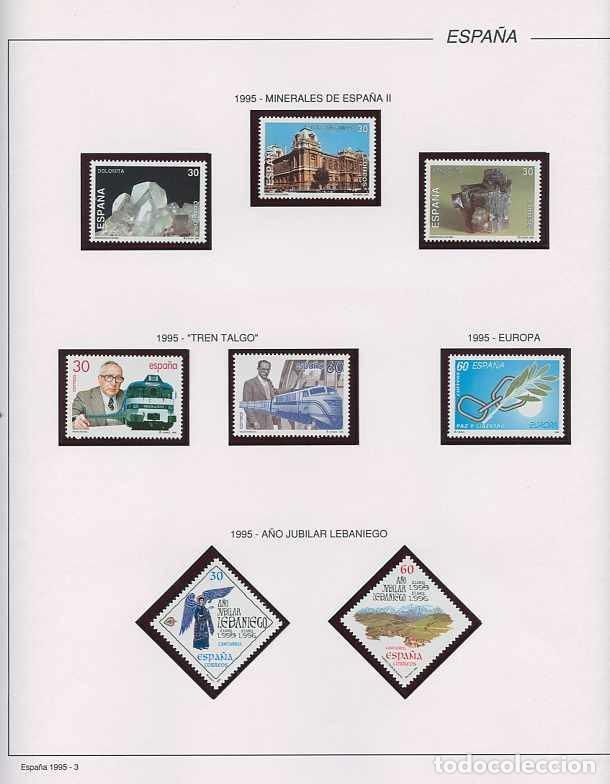 Sellos: España 1995 - AÑO COMPLETO - MNH - Montado en hojas FILABO - Foto 4 - 185789277