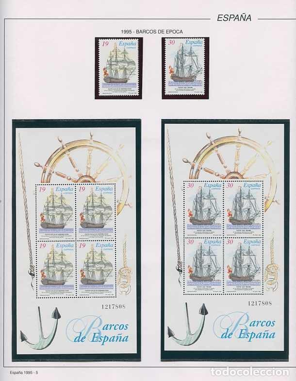 Sellos: España 1995 - AÑO COMPLETO - MNH - Montado en hojas FILABO - Foto 6 - 185789277