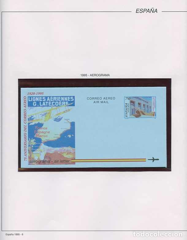 Sellos: España 1995 - AÑO COMPLETO - MNH - Montado en hojas FILABO - Foto 7 - 185789277