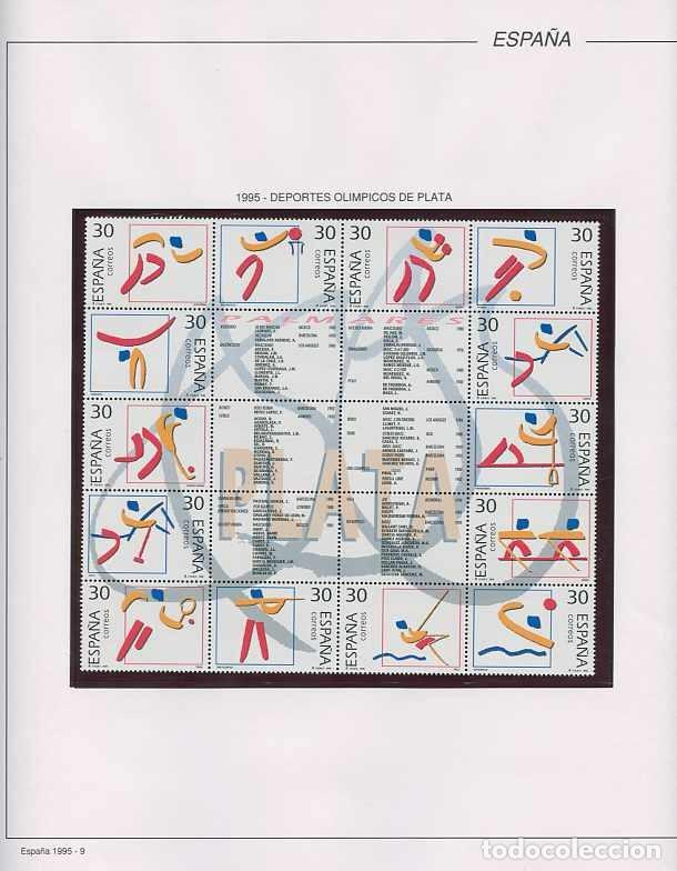 Sellos: España 1995 - AÑO COMPLETO - MNH - Montado en hojas FILABO - Foto 10 - 185789277
