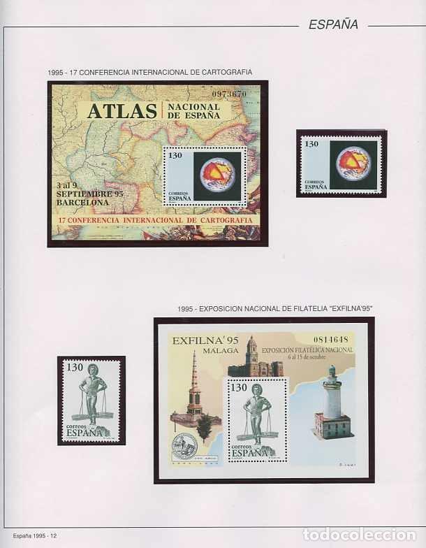 Sellos: España 1995 - AÑO COMPLETO - MNH - Montado en hojas FILABO - Foto 13 - 185789277