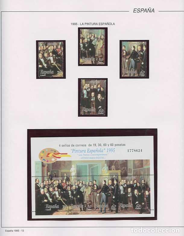 Sellos: España 1995 - AÑO COMPLETO - MNH - Montado en hojas FILABO - Foto 14 - 185789277
