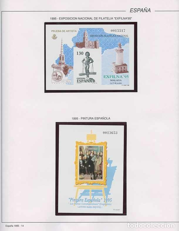 Sellos: España 1995 - AÑO COMPLETO - MNH - Montado en hojas FILABO - Foto 15 - 185789277