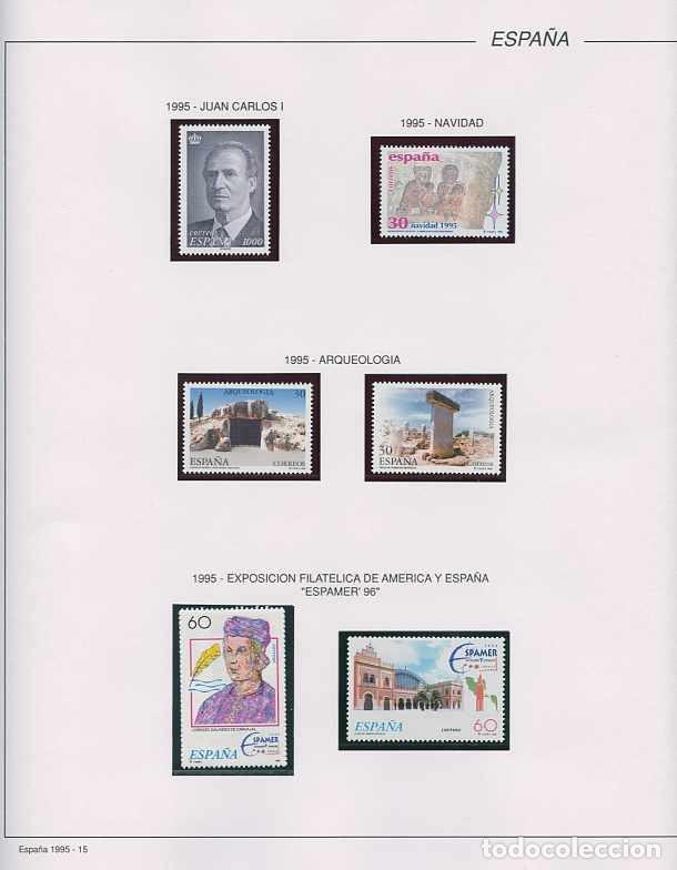 Sellos: España 1995 - AÑO COMPLETO - MNH - Montado en hojas FILABO - Foto 16 - 185789277