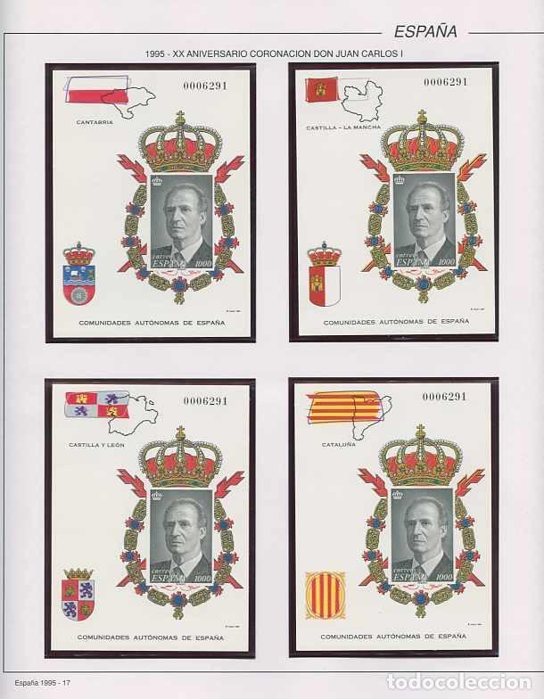 Sellos: España 1995 - AÑO COMPLETO - MNH - Montado en hojas FILABO - Foto 17 - 185789277