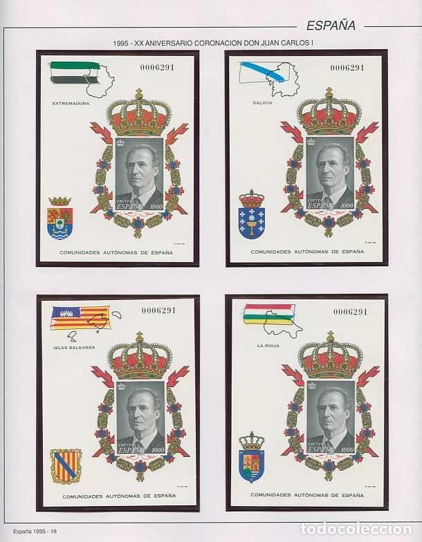 Sellos: España 1995 - AÑO COMPLETO - MNH - Montado en hojas FILABO - Foto 18 - 185789277