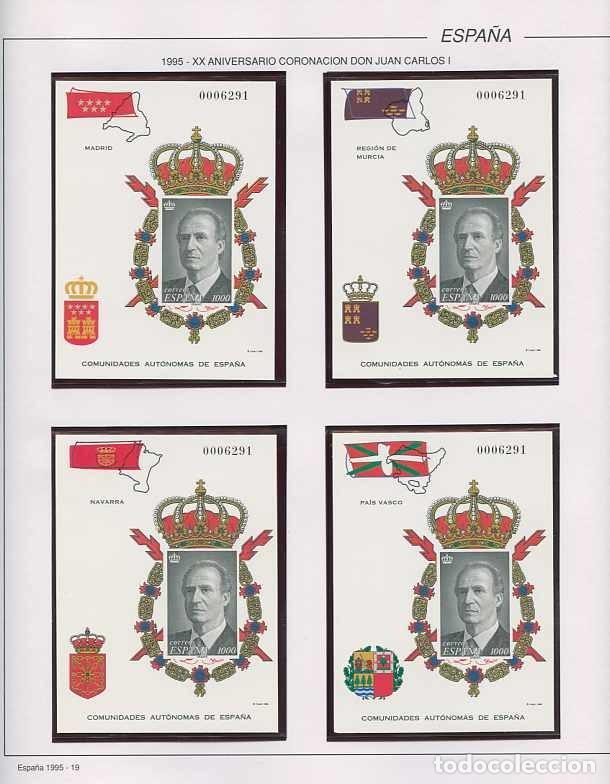 Sellos: España 1995 - AÑO COMPLETO - MNH - Montado en hojas FILABO - Foto 19 - 185789277