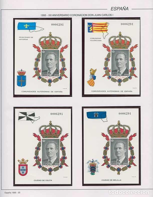 Sellos: España 1995 - AÑO COMPLETO - MNH - Montado en hojas FILABO - Foto 20 - 185789277