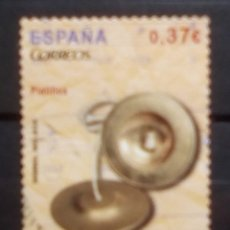 Sellos: ESPAÑA INSTRUMENTOS MUSICALES PLATILLOS SELLO USADO DE 0,37 €. Lote 185874170