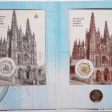 Sellos: ESPAÑA CARPETA LUJO CATEDRAL BURGOS HOJA BLOQUE + PRUEBA LUJO + MOMEDA 2 € SIN CIRCULAR. Lote 185879363