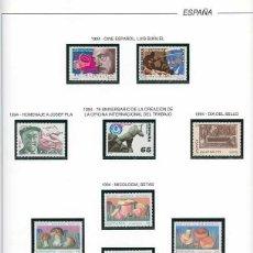 Sellos: ESPAÑA 1994 - AÑO COMPLETO - MNH - MONTADO EN HOJAS FILABO. Lote 185978798