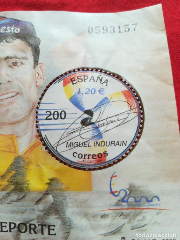 Sellos: Hoja de bloque deporte España 2000 zona euro Miguel Indurian 1,20€ sin goma - Foto 3 - 186052523