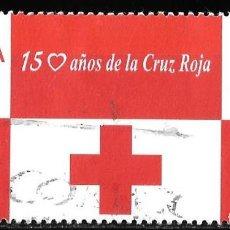 Timbres: ESPAÑA 2013. 150 AÑOS DE LA CRUZ ROJA. EMISIÓN CONJUNTA ESPAÑA - BÉLGICA. EDIFIL 4828. Lote 186064396
