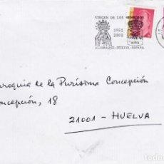 Sellos: RARO SOBRE CON MATASELLO CONMEMORATIVO VIRGEN DE LOS REMEDIOS DE ALJARAQUE. . Lote 186136245