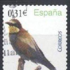 Sellos: ESPAÑA - AÑO 2008 - EDIFIL 4378 - FAUNA - ABEJARUCO - USADO. Lote 187096116