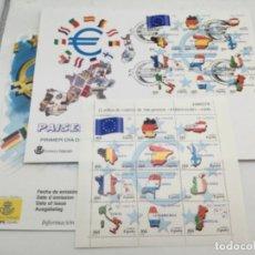 Sellos: PAÍSES EURO. SOBRE GRANDE PRIMER DIA Y 12 SELLOS NUEVOS EN MINIPLIEGO. 28.05.1999. Lote 187200150