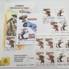 Sellos: COMICS. SOBRE PRIMER DIA Y SELLOS NUEVOS 2 BLOQUES DE 4 Y 2 DE 1. 11.06.1999. Lote 187223636
