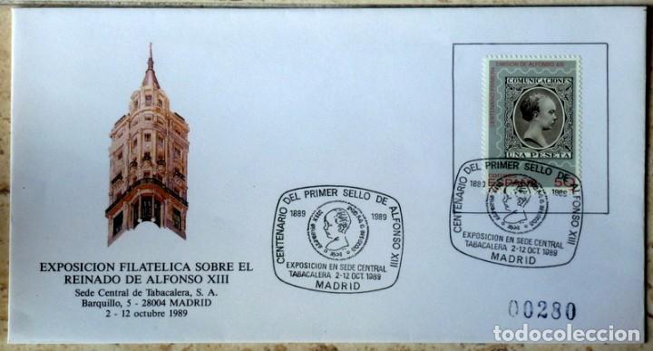 SOBRES ESPAÑA 1989- FOTO 993- EXP. FILATELICA (Sellos - España - Juan Carlos I - Desde 1.986 a 1.999 - Cartas)