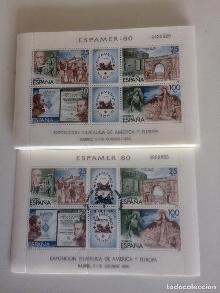 ESPAMER 80 HOJITAS SELLOS25,25,50Y100 (Sellos - España - Juan Carlos I - Desde 1.975 a 1.985 - Nuevos)
