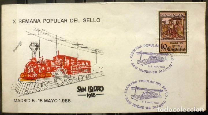 SOBRES ESPAÑA 1988- FOTO 174 -SAN ISIDRO 88 (Sellos - España - Juan Carlos I - Desde 1.986 a 1.999 - Cartas)