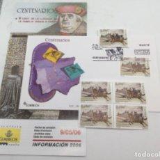 Sellos: CENTENARIO FAMILIA TASIS. SOBRE PRIMER DIA Y SELLOS NUEVOS BLOQUE DE 4 Y 1. 09.05.2006. Lote 187587883
