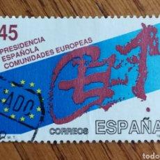 Sellos: N°3010 USADO, PRESIDENCIA ESPAÑOLA DE LAS COMUNIDADES EUROPEAS (FOTO ESTÁNDAR). Lote 231179355