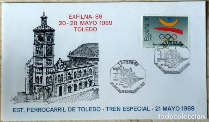 SOBRES ESPAÑA 1989- FOTO 999- EXFILNA 89 (Sellos - España - Juan Carlos I - Desde 1.986 a 1.999 - Cartas)